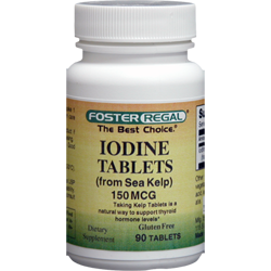 Iodine 150 mcg (from Sea Kelp)