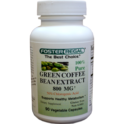 Green Coffee Bean Extract 800 Mg 50 Chlorogenic Acid Foster