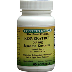 RESVERATROL 50 MG Extracted From Japanese Knotweed Root