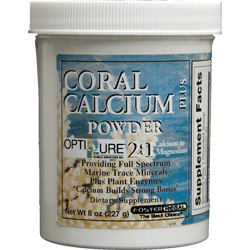 Coral Calcium Powder 2:1 Calcium to Magnesium w/Trace Minerals and Plant Enzymes