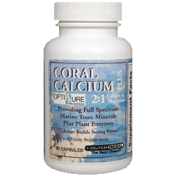 Coral Calcium Capsules 2:1 Calcium to Magnesium w/Trace Minerals and Plant Enzymes