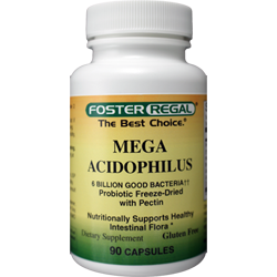 Mega Acidophilus Probiotic New Mega Potency 6.0 Billion Organisms 15 Times More Potent