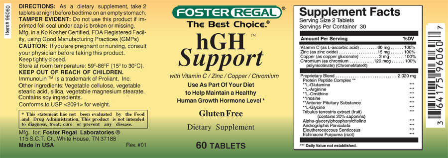 Hormone Support HGH - Foster Regal Labs